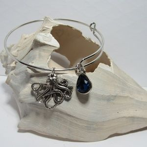 Octopus Kraken Adjustable Charm Bracelet Bangle